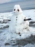 Pupazzo di neve di fusione Immagini Stock
