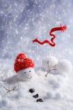 Pupazzo di neve di fusione Immagine Stock