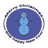 Pupazzo di neve di immagine al Natale ed al nuovo anno Fotografie Stock Libere da Diritti