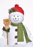 Pupazzo di neve di inverno Fotografia Stock