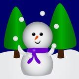 Pupazzo di neve di manipolazione Immagini Stock