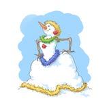 Pupazzo di neve di marchese Immagini Stock Libere da Diritti