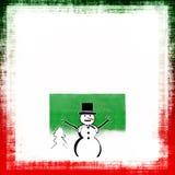 Pupazzo di neve di natale Fotografie Stock