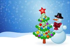 Pupazzo di neve di Natale fotografia stock