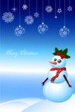 Pupazzo di neve di natale Royalty Illustrazione gratis