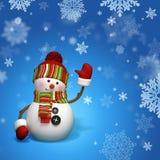 Pupazzo di neve di natale Immagini Stock
