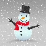 Pupazzo di neve di natale Fotografie Stock Libere da Diritti