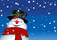 Pupazzo di neve di natale allegro illustrazione di stock