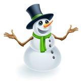 Pupazzo di neve di natale di divertimento Fotografie Stock Libere da Diritti