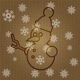 Pupazzo di neve di Natale di vettore Fotografia Stock Libera da Diritti
