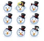 Pupazzo di neve di smiley Fotografie Stock