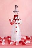 Pupazzo di neve di vetro fotografia stock
