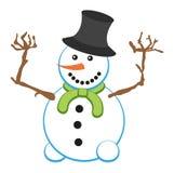 Pupazzo di neve divertente Illustrazione Vettoriale