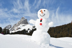 Pupazzo di neve divertente Fotografia Stock