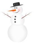 Pupazzo di neve divertente Immagini Stock Libere da Diritti