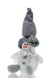 Pupazzo di neve divertente della decorazione di natale immagini stock libere da diritti