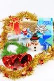 Pupazzo di neve e regalo Immagini Stock