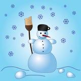 Pupazzo di neve eps10 di natale di inverno Illustrazione Vettoriale