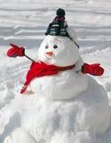 Pupazzo di neve felice Immagine Stock Libera da Diritti