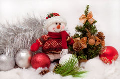 Pupazzo di neve festivo Immagine Stock Libera da Diritti