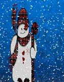 Pupazzo di neve festivo Immagini Stock Libere da Diritti
