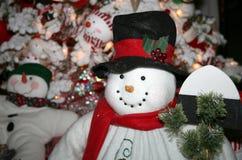 Pupazzo di neve Handcrafted della peluche Fotografie Stock Libere da Diritti