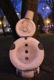 Pupazzo di neve insolito immagini stock libere da diritti
