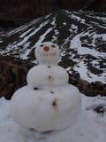 Pupazzo di neve in montagna di San Jose del maipo fotografia stock