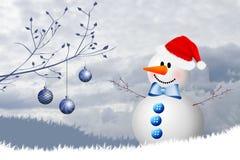 Pupazzo di neve per il Natale Immagine Stock
