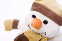 Pupazzo di neve piacevole Fotografie Stock