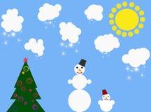Pupazzo di neve puerile Immagine Stock