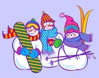 Pupazzo di neve sveglio royalty illustrazione gratis