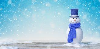 Pupazzo di neve sveglio nel paesaggio 3d di inverno rendere illustrazione vettoriale