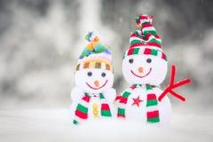 Pupazzo di neve Toy Family Fotografie Stock Libere da Diritti