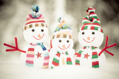 Pupazzo di neve Toy Family Fotografia Stock Libera da Diritti