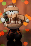 Pupazzo di neve - un giocattolo di Natale su un abete Fotografia Stock Libera da Diritti