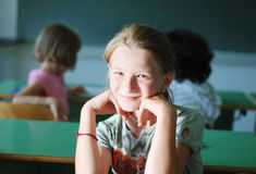 Pupil activities in the classroom Royalty Free Stock Images
