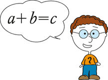 Pupil answering at lesson. A boy pupil answering at lesson Royalty Free Stock Images