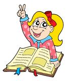 Pupil with book vector illustration. Pupil with book - vector illustration Stock Photo