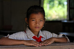 Pupil in Champasak Royalty Free Stock Image