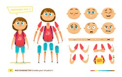 Pupil character for your scenes. Stock Images