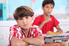 Pupil in class Stock Images