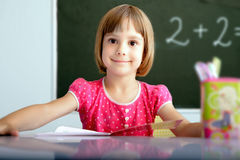 Pupil in a classroom Stock Photography