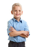 Pupil with crossed hands Stock Photos