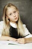 Pupil - cute girl in school uniform Royalty Free Stock Image