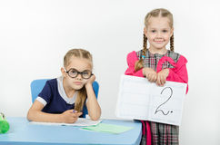 Pupil does not learn the lesson and got a deuce Stock Photo