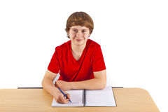 Pupil doing homework for school Royalty Free Stock Photos