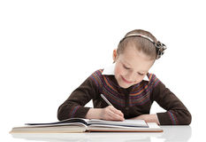 Pupil finds pleasure in doing the task Stock Images
