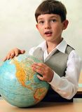 Pupil & globe Royalty Free Stock Photos