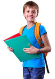 Pupil of grade school with backpack and books Stock Photography
